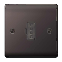 NEXUS BLACK NICKEL 13A FUSED CONNECTION UNIT UNSWITCHED