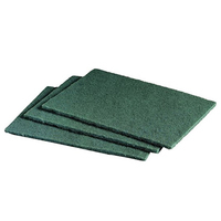 'M' Quality Green Scouring Pads, 10/Pack