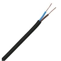 Flexible Cable  2 Core Circular - Black