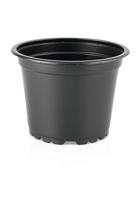 Teku VCH9F Round Pot 5° Tall Thermoformed 9cm - Black