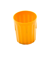 Tumbler Fluted Polycarbonate 8oz Yellow