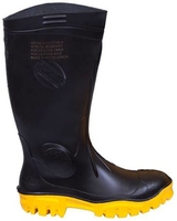 Stimela Black Nitrile Mix Safety Gumboot Black