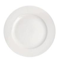 """Pure White Wide Rim Plate 10.6""""(27cm)"""
