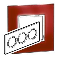 Arteor (British Standard) Plate 6 Module Round Mirror Red | LV0501.2806