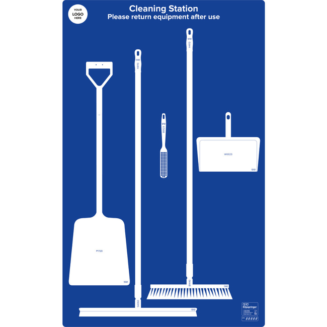 Floor Cleaning Station With Squeegee- Blue