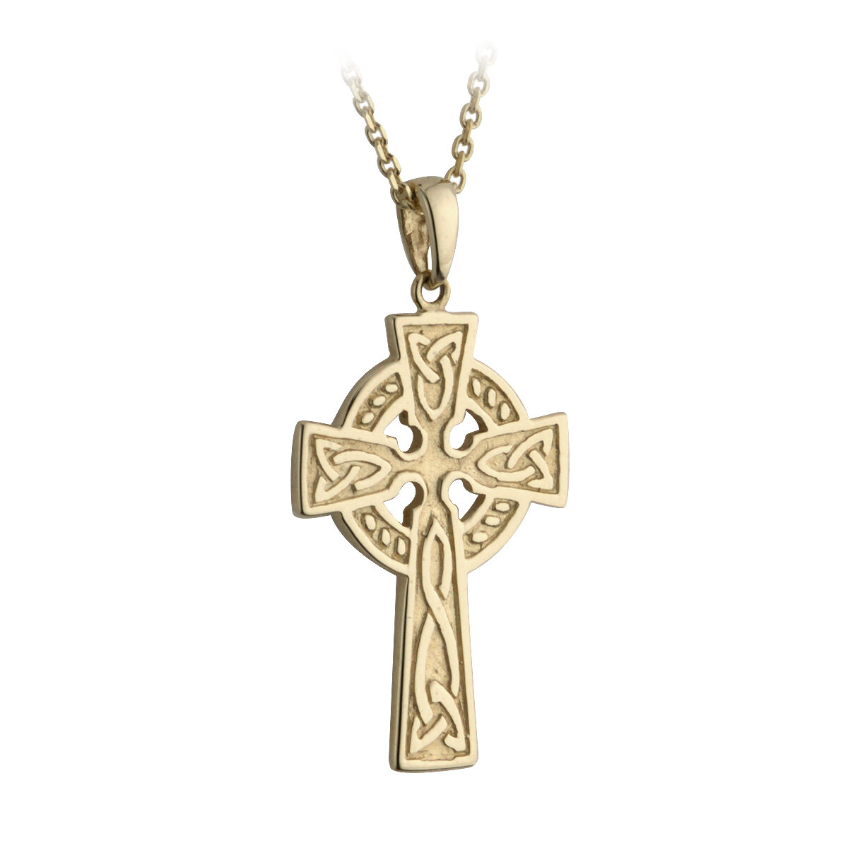 10k gold small double sided cross pendant s44648 from Solvar