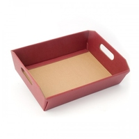 BOX TRAY 350X260X70MM  BURGUNDY