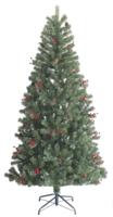 7ft Pre-Lit Green Noble Pine Tree