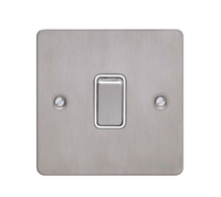 Flat Plate Stainless Steel 16AX 1G 2 Way SWITCH WHITE | LV0701.0075