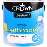 CROWN MID SHEEN BATHROOM BRILLIANT WHITE 2.5L