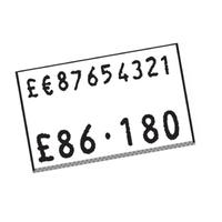 CT7 Price Label White 10k Peelable