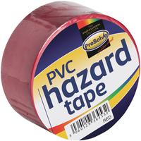 "SAFTR2"""" PVC S/ADHESIVE HAZARD TAPE RED 50MM X 33M"