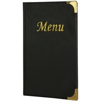 Basic Menu A5 Black - 8 Page