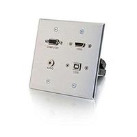AV Wall Plate 1G HDMI/VGA/USB/3.5m