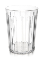 9oz Polycarbonate Fluted Tumbler Clear
