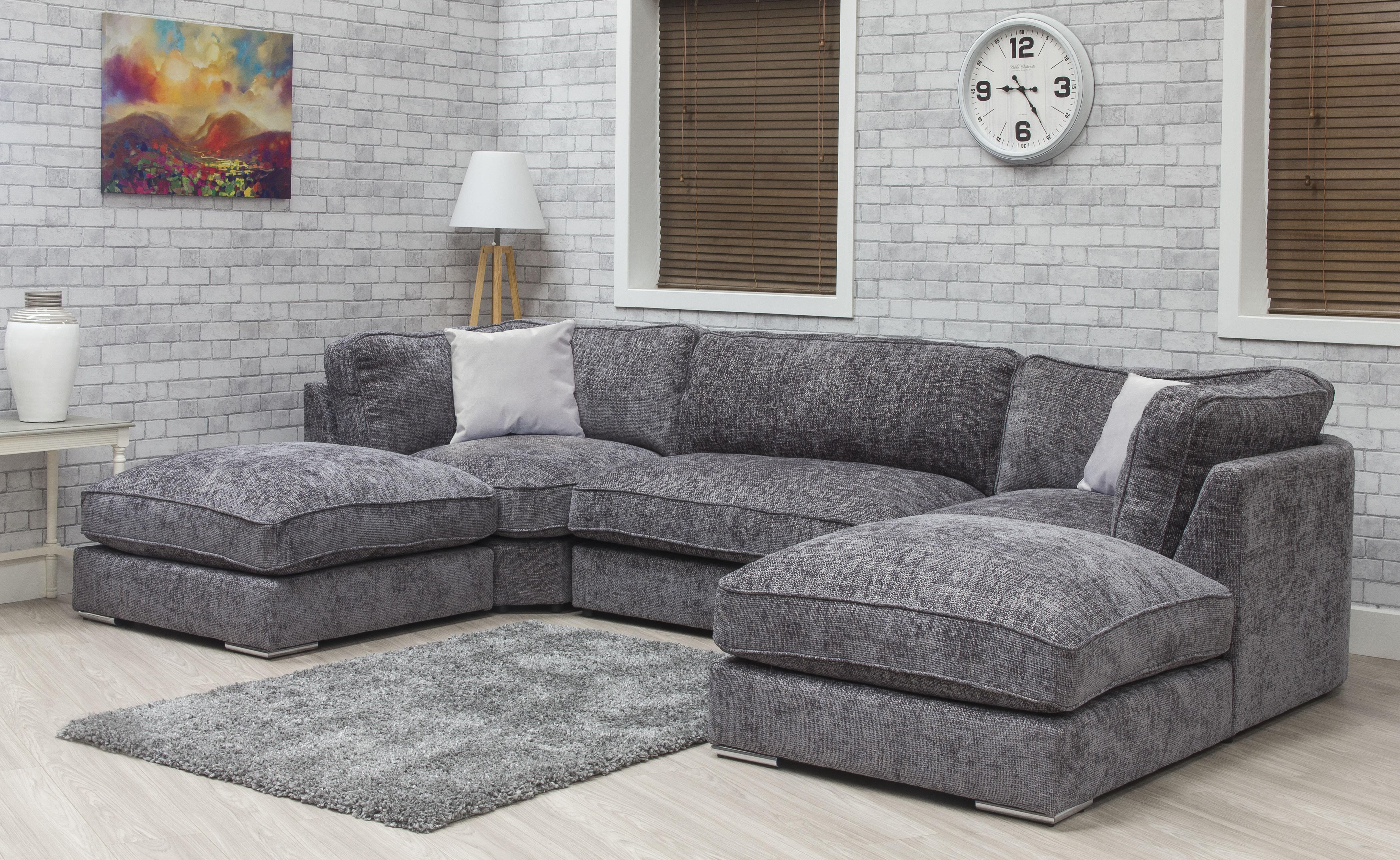 Harmony Fabric Sofa - Enzo Slate 2