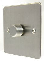 Flat Plate Stainless Steel LV DIMMER 1G  1 Way 400VA | LV0701.0505