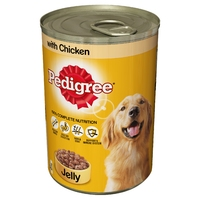 Pedigree Cans Adult Chicken in Jelly 400g x 12pk