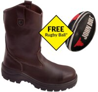 John Bull Explorer Slip On Hi Leg Safety Boot Oxblood