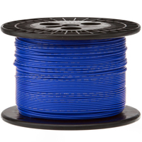 Electronic Wire Tinned Copper 1000Meters Spool Blue