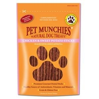 Pet Munchies Dog Treats - Chicken & Sweet Potato Sticks 90g x 8