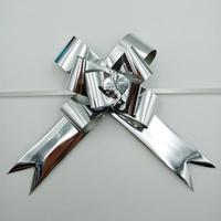 32MM METALLIC SILVER P.BOW [50]