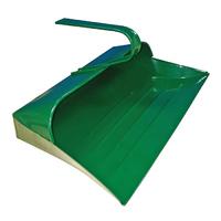 Leecroft Metal Hooded Dustpan Green