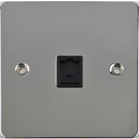 Flat Plate PC RJ11 TEL Socket Black Insert|LV0701.0213