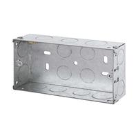 2 Gang 35mm Metal Socket Box