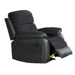 Kin Two Tone Grey Reclining Armchair