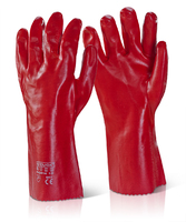 "PVC Red 14"" Waterproof General Purpose Gauntlets"