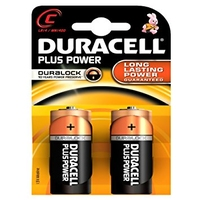 Duracell Plus Power Size C Batteries 2 Pack