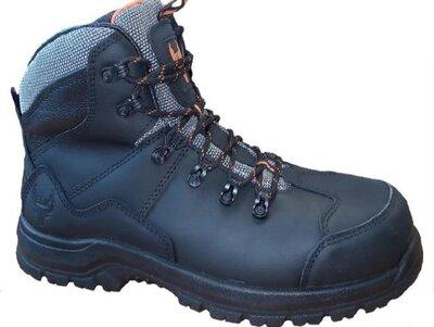 ELK Borvo Black Leather Safety Boot S3 SRC