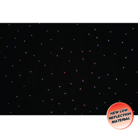 LEDJ PRO 6 x 3m Tri LED Black Starcloth (Add on for STAR12)