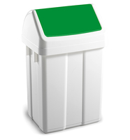 Max Swing Bin and Lid Green 50Ltr
