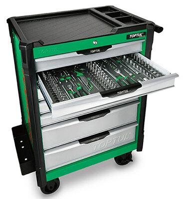 213Pc W/7-Drawer Mechanics Tool Trolley | Toptul QGE21322