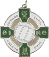 34mm Gaelic Football Medal -(Silver / Green)