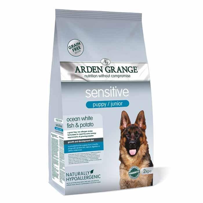 Arden Grange Sensitive Puppy / Junior – grain free – ocean white fish & potato