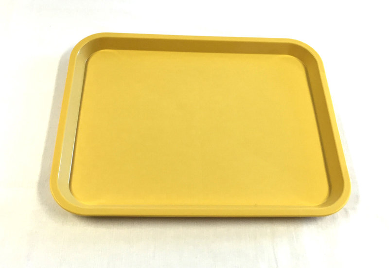 345 X 265 Pastel Yellow Pp Tray Textured Surface Kitchequip