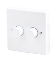 Robus 400W 2 Gang 2 Way Dimmer White