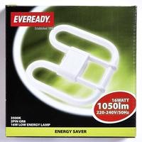EVEREADY WHITE (COL3500K) 2D 16W 2 PIN