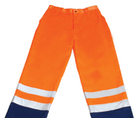 REDBACK P/C Hi-Visibility Trousers Orange/Navy