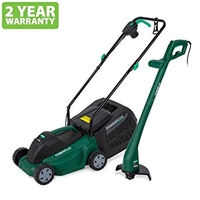 Powerplus 1000W Electric Lawnmower & Strimmer Combo