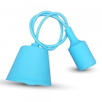 Light Blue Silicone Pendant