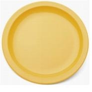 "Large Narrow Rimmed Plate Yellow Polycarbonate 9"" 23cm"