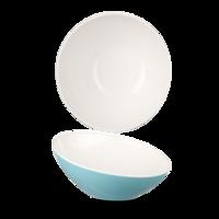 Plastic Tilt Melamine Bowl Turq 20Cm Carton of 4