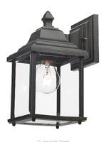 Doyle Wall Bracket Lantern IP44, Black Gold  | LV1802.0157
