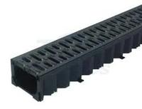 Drain Channel & Plastic Grate 80mm high 1 Metre - Domestic use