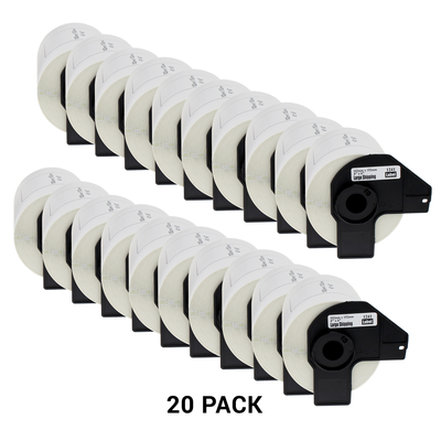 Compatible Brother DK11209 Black on White 29mm x 62mm Page Yield Pack of 20