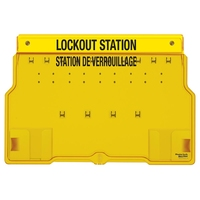 Master Lock 10-lock padlock station, english/french, unfilled